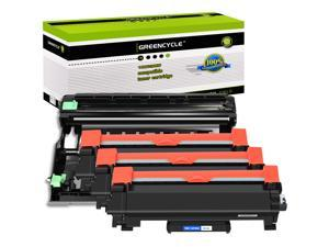 GREENCYCLE 4PK Compatible with Brother TN760 TN730 Toner Cartridge with Chip DR730 Drum Unit (3 Toner,1 Drum) for DCP-L2550DW