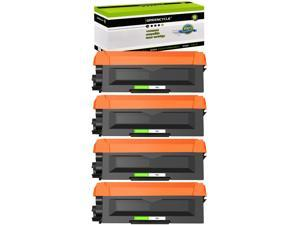 GREENCYCLE Toner Cartridge Compatible for Brother TN660 TN630 use in HL-L2300D DCP-L2520DW MFC-L2680W Printer (Black, 4 Pack)