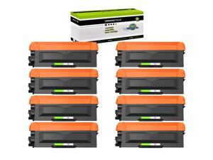 GREENCYCLE Toner Cartridge Compatible for Brother TN660 TN630 use in HL-L2300D DCP-L2520DW MFC-L2680W Printer (Black, 8 Pack)