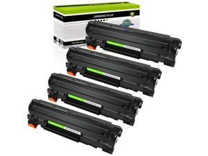 GREENCYCLE 4 Pack CE285A 85A Toner Cartridges Compatible for HP LaserJet P1102 M1130 M1132 M1212NF M1217nfw