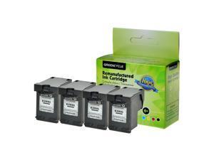 4PK Black Ink Cartridge Compatible for HP 63XL Deskjet 2133 2134 3630 3631