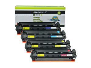 GREENCYCLE 4PK CF400A CF401A CF402A CF403A 201A Black Cyan Yellow Magenta Toner Cartridge Compatible for HP Color Laser Printer