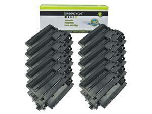 GREENCYCLE 10 Pack Compatible Black Toner Cartridge Replacement for HP CE255X 55X CE255A 55A LaserJet Enterprise P3015dn P3015x LaserJet Pro 500 MFP M521dn M521dw Printer