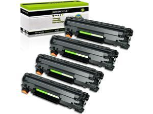GREENCYCLE 4 Pack Compatible Black Toner Cartridge CE278A for HP 78A LaserJet P1560 P1566 P1606 M1536dnf