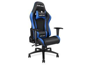 Anda Seat Axe Series High Back Gaming Chair Ergonomic Computer Chair eSports Desk with Pillows(Black/Blue) AD5-01-BS-PV