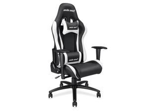 Anda Seat Axe Series High Back Gaming Chair Ergonomic Computer Chair eSports Desk with Pillows(Black/White) AD5-01-BW-PV