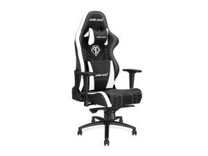 Anda Seat Spirit King Series High Back Ergonomic Computer Office Chair E-Sports Chair with Adjustable Headrest and Lumbar Support(Black/White)AD4XL-05-BW-PV