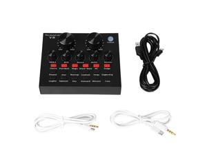 V8 Multifunctional Live Sound Card Intelligent Volume Adjustable Multiple Funny Sound Effect