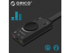 Portable USB External Sound Card Microphone Earphone Two-in-One With 3-Port Output Volume Adjustable For Windows/Mac/Linux