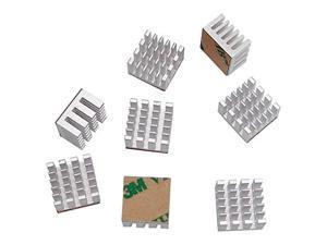 Koolance Video RAM Heat Sinks, Silver, 8-pack