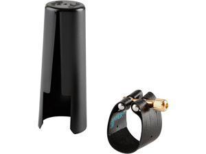 Rovner Dark Baritone Saxophone Ligature And Cap 3R - fits Most Rubber Bari Sax Mouthpieces