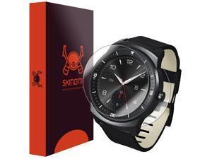 LG G Watch R Screen Protector + Full Body, Skinomi TechSkin Full Coverage Skin +