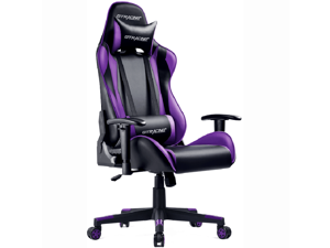 GTRACING Gaming Chair Racing Office Computer Game Chair Ergonomic Backrest and Seat Height Adjustment with Pillows Recliner Swivel Rocker Headrest and Lumbar Tilt E-Sports Chair (Black/Red)