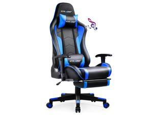 GTRACING Gaming Chair with Footrest and Bluetooth Speakers Music Video Game Chair Heavy Duty Ergonomic Computer Office Desk Chair