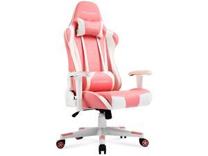 GTRACING Gaming Chair Racing Office Computer Ergonomic Video Game Chair Backrest and Seat Height Adjustable Swivel Recliner with Headrest and Lumbar Pillow Esports Chair