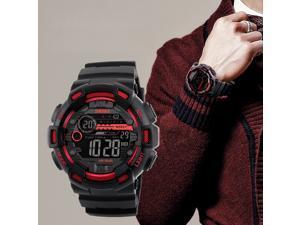 SKMEI Men Military Sport Waterproof Alarm Stopwatch LED Quartz Countdown Digital Watch