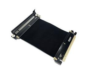 EZDIY-FAB NEW PCI Express 16x Flexible Cable Card Extension Port Adapter High Speed Riser Card-9cm