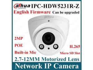 Dahua Original IPC-HDW5231R-Z  2MP POE H.265 2.7-12MM Motorized Lens  IR Eyeball Starlight  Network Ip Camera Built-in Mirco SD Slot Firmware Updatable