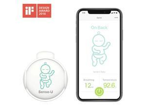 Sense-U Baby Monitor with Breathing Rollover Movement Temperature Sensors: Track Your Baby's Breathing, Rollover, Temperature(2019 Newest Model for Best Accuracy)