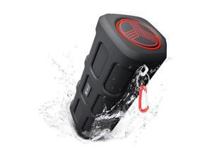 TREBLAB FX100 - Extreme Bluetooth Speaker - Loud, Rugged for Outdoors, Shockproof, Water Resistant IPX4, Built-in 7000mAh Power Bank, HD Audio w/Deep Bass, Portable Wireless Blue Tooth Microphone Mic