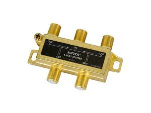 ANTOP Coaxial Cable Splitter Ultra Mini Distribution for Satellite TV Antenna Signals 2GHz- 5-2050MHz (AT-707)