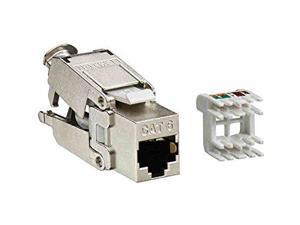 Cat6 61110-RV6 Lot of 25 LEVITON eXtreme 6+ QuickPort Connector Jack Green