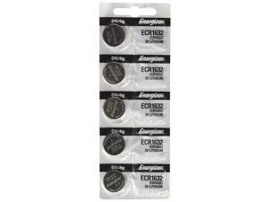 Energizer CR1632 Batteries. Lithium 3V Coin Cell Battery. (5 Batteries per Pack)