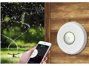 GreenIQ Smart Sprinkler Controller Gen. 3, Controls Irrigation and Lighting via Smartphone, 8 Irrigation Zones, Connects via WiFi