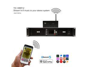 WBR12 Wifi(AirPlay2)&Bluetooth5.0 Multiroom Transmitter &Receiver w/USB,Audio-In,Fibre, HDMI Inputs