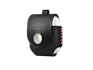 VogDUO- Italian Genuine Leather Case for AirPods, portable carry case, Lightning port slot design, Belt Loop design, premium metal hook for the bag, keychain or jeans, YKK button applied- Black
