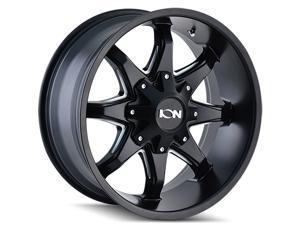 """4 Wheels 20"""" 181 20x9 8x180 Satin Black 18ET 124.1CB 8 Spoke (181-2978B18)"""