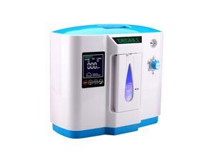 HengCL Top Grade Portable Household Oxygen Concentrator Generator 1L Oxygen Making Machine Air Purifier 90% High Purity 6L Flow AC 110V (Blue)
