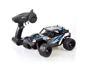 Pulselabz 1:18 Car High-Speed 35km/h 4WD Remote Control RC 2.4Ghz Offroad RC Truggy Monster Truck Buggy All Terrain Blue