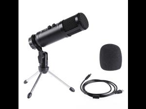 Pulselabz PL580 Studio Recording Microphone Broadcast Built-in Sound Echo Recording Singing Mic Phone Computer PC Live Stream