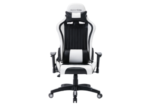 MotionGrey Enforcer Series- White Gaming Chair for Adults & All Ages - Reclining Gaming Computer Chair with Headrest & Cushions - Ergonomic Gaming Chair Perfect for all Office & Home Use