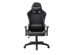 MotionGrey - Black Gaming Chair for Adults & All Ages - Reclining Gaming Computer Chair with Headrest & Lumbar Cushions - Ergonomic Gaming Chair Office & Home Use