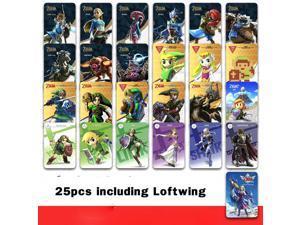 25pc ZELDA BOTW Amiibo Cards with Loftwing Skyward Sword HD