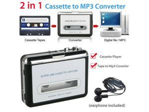Ezcap218 USB Cassette Player Tape to PC Old Cassette to MP3 Format Converter Audio Recorder Capture Walkman with Auto Reverse