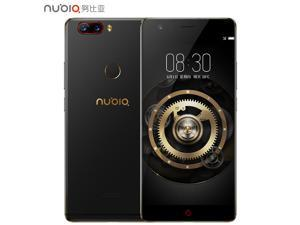 ZTE Nubia Z17 5.5 Inch 4G LTE Smartphone 6GB 64GB Dual Rear Cam 23.0MP + 12.0MP Snapdragon 835 Octa Core Android 7.1 NFC Fast Charge QC4+ Bass Sound - Black