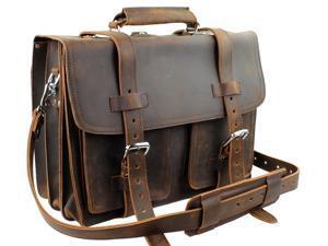 Vagarant Traveler Full Grain Leather Business Pro Case LB12.DB
