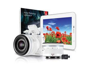 Samsung NX1100 Compact Camera and Samsung Galaxy Tab 2 7.0 Tablet Bundle with 20-50mm Lens and Camera Strap