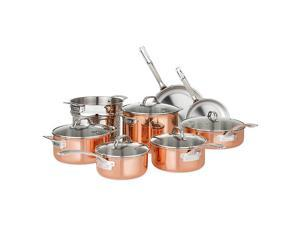 Viking Professional 13-Piece 13pc Copper Tri-Ply Cookware Set