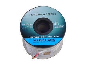 100ft (30m) Pro Series 12 Gauge 2-Conductor Speaker Wire (100 Feet / 30 Meter) 12AWG White 99.9% Oxygen Free Copper ETL Listed & CL2 Rated with White PVC Jacket (for in-Wall Installation)