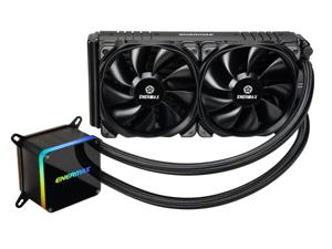 Enermax LIQTECH II 240, Addressable RGB All-in-one CPU Liquid Cooler for AM4/ LGA1200, 240mm Radiator, Dual-Chamber RGB Pump, T.B. Pressure Fan Blades, 5 Year Warranty