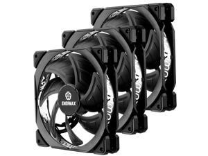 Enermax T.B. Silence Adv 140mm Fan Ultra Silent Fan Enerflo channel blade design, Black, UCTBA14P - 3 PACK