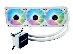 Enermax LIQMAX III ARGB 360, Addressable RGB All-in-one CPU Liquid Cooler for AM4 / LGA1200, 360mm Radiator, Dual-Chamber water block, ARGB Fan, White, ELC-LMT360-W-ARGB