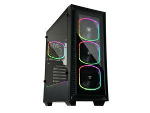 Enermax Starryfort SF30 Addressable RGB Tempered Glass ATX Mid Tower Gaming PC Case 4 x SquA RGB Fans, ECASF30MIBBARGB