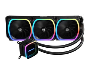 Enermax AQUAFUSION 360 Addressable RGB All-in-one CPU Liquid Cooler for AM4 / LGA 1200, 360mm Radiator, Dual-Chamber Water Block, SquA RGB Fans