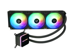 Enermax LIQMAX III ARGB 360, Addressable RGB All-in-one CPU Liquid Cooler for AM4 / LGA1200, 360mm Radiator, Dual-Chamber Water Block, ARGB Fan