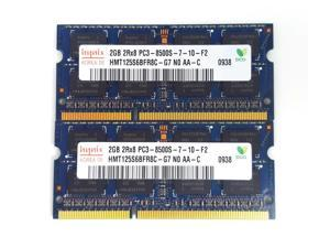 Hynix 4GB (2 X 2GB) PC3-8500S DDR3 1066MHz 204pin So-Dimm Laptop Memory HMT125S6BFR8C-G7